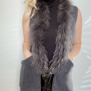 Max&co knitted vest genuine fur